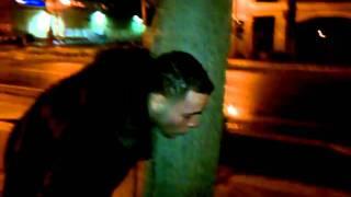 Jay throwing up lil a punk biach.