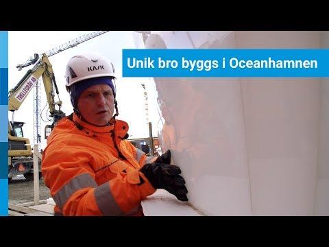 Unik bro byggs i Oceanhamnen