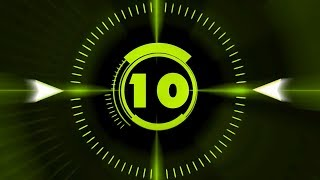 Countdown Timer ( v 212 ) 10 sec with Sound effects and Voice HD! width=