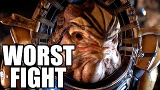 MASS EFFECT ANDROMEDA - Worst Fight Scene / Terrible Krogan Fight