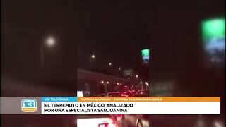El terremoto de México, analizado por una especialista sanjuanina