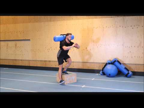Single Leg Squat Backwards Heel Touch with Hydrovest®