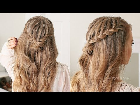 Half Up Lace Braid Mini Bun | Missy Sue