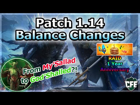 RAID Shadow Legends | Patch 1.14 Balance Changes | Ma'Shalled God Tier Now?!