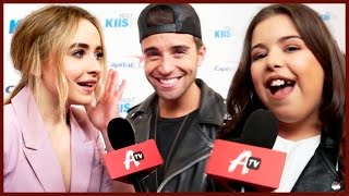 CELEBRITIES SING CHRISTMAS SONGS ON JINGLE BALL RED CARPET!