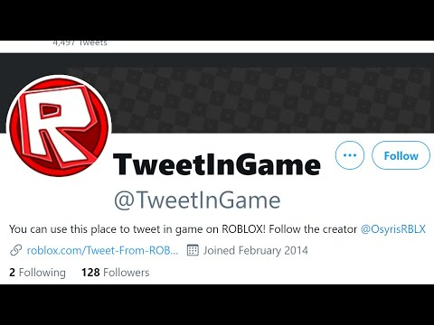You could TWEET inside a Roblox Game!