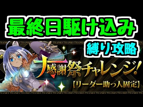 【生放送】終了間際のLF固定大感謝祭チャレンジ!縛り攻略【パズドラ】