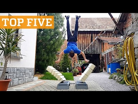 TOP FIVE: Stuntman Training, Breakdancing & Tennis Freestyle | PEOPLE ARE AWESOME 2016 Poster