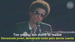 Letra Traducida de la canción When I was your man de Bruno Mars