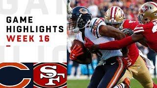 Bears vs. 49ers Week 16 Highlights   NFL 2018