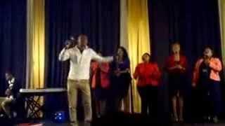 Monde Mgquba of Spirit Of Praise_uthi wongithwala feat Mnqobi on piano width=