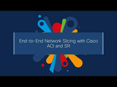 End-to-end network slicing with Cisco ACI and SR