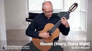Vincent (Starry, Starry Night) by Don McLean - Danish Guitar Performance - Soren Madsen