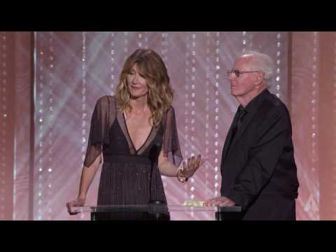 Bruce and Laura Dern honor Lynn Stalmaster at the 2016 Governors Awards