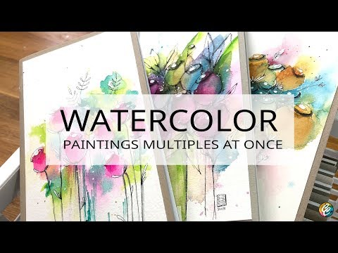 watercolor painting in an assembly line - covers of Traveller's Notebooks
