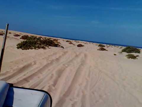 Sand 4×4 Driving Beach Western Sahara Morocco