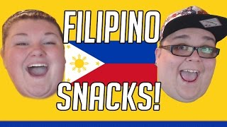 AMERICANS REACT TO FILIPINO SNACK FOODS!! SO MANY SNACKS!!!