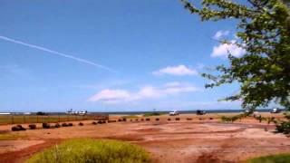 Obvious Chemtrail Over Salt Pond Beach - Kauai Hawaii