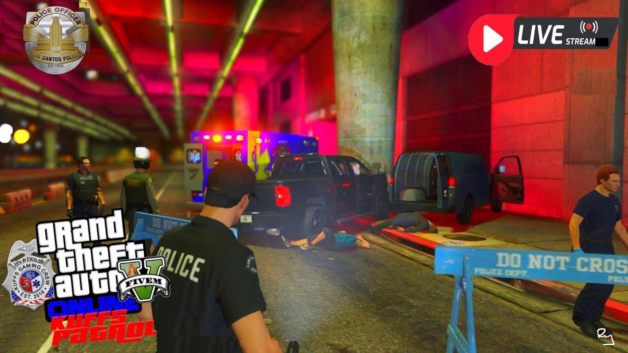 Ry Wilson - LIVE: GTA 5 FiveM Kuffs Roleplay (South Los Santos Patrol)