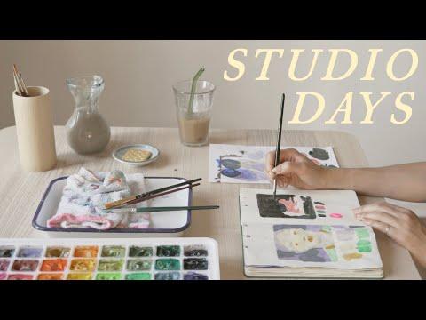 A Week in my Sketchbook   calming art vlog 