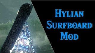 Hylian Surfboard: BoTW Mod