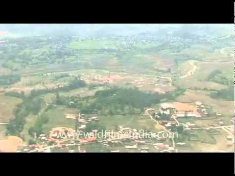 Aerial view of Kathmandu…