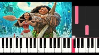 Moana - How Far I'll Go (SLOW EASY PIANO TUTORIAL)