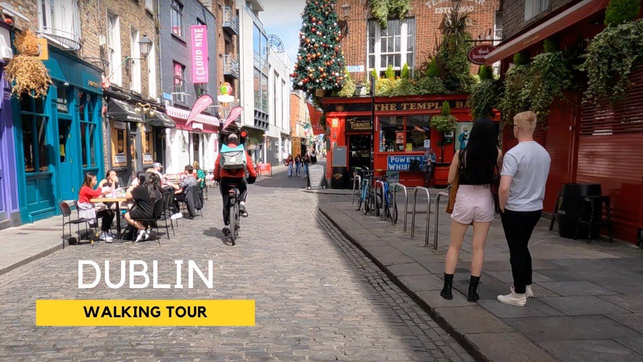 Take a Virtual Walk in Dublin City Centre – Ireland in 4K [Filmed 14 June 2021]