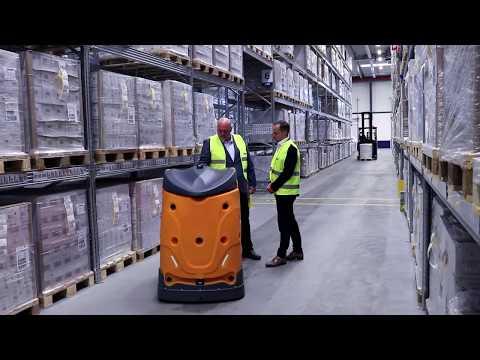 DSV tests robot in Pharma Warehouse