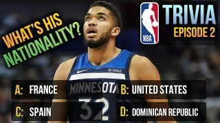 Can You Guess Their Nationality? NBA Trivia Ep.2