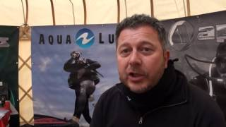 Dean Martin from Apeks/Aqualung UK says hello from Scubafest Cornwall 2014