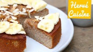 Recettes de cuisine : Hervé Cuisine #healthy : Recette gâteau moelleux amandes sans beurre en vidéo