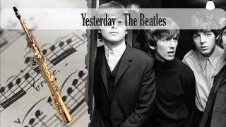 Partitura Yesterday - The Beatles Saxofon Soprano