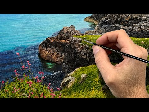 Painting the Rocks on a Cliff - Episode 206