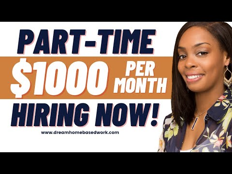 3 PART-TIME Online Work from Home Jobs Hiring Now ( No Experience)
