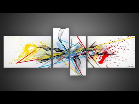 ABSTRACT PAINTING DEMO with MARKERS, SPLASH AND TRANSPARENCY | Time