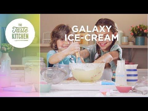 Two kids make Galaxy Ice Cream | Junior Taste Kitchen | Aldi