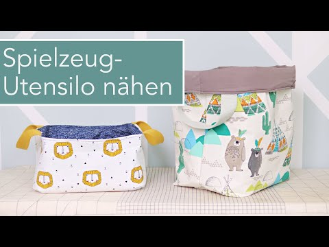 Spielzeug Utensilo für Babys und Kinder nähen