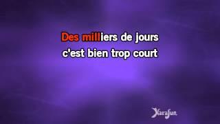 Karaoké Je n'aurai pas le temps - Michel Sardou *