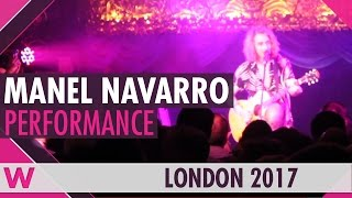 "Manel Navarro ""Castle on the Hill"" LIVE @ London Eurovision Party 2017"