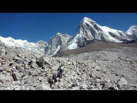 Sunstone Adventures – Approaching Pumori on the way to Gorak Shep, Everest Base Camp Trek, Nepal.