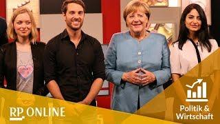 Live-Interview: Bekannte Youtuber befragen Angela Merkel