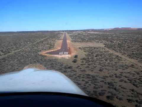 Landing Sishen Airfield South Africa FASS