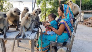 New appointed masters of Langurs Anganwadi