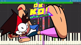 IMPOSSIBLE REMIX - OK KO.! Let's Be Heroes - Intro Theme Song - Piano Cover