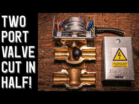 2 Port Central Heating Zone Valve CUT IN HALF Pt.2