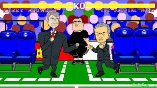 ❗️Wenger vs Mourinho FIGHT/PUSH/SHOVE❗️(Chelsea vs Arsenal 2-0 Highlights/Goals/2014) Cartoon Parody