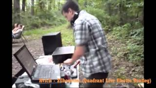 DJ Quadrant goes camping - Live performance cellphone footage