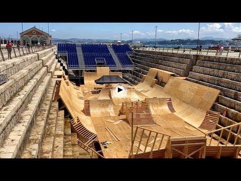 Ya falta menos para que los riders de Red Bull peguen saltos en el dique de Gamazo
