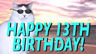 HAPPY 13th BIRTHDAY! - EPIC CAT Happy Birthday Song